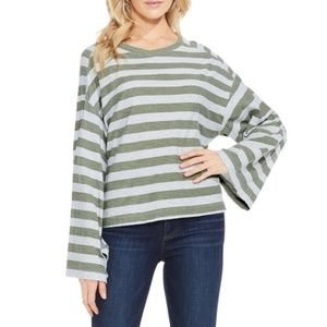 Vince Camuto Lydia Striped Long Sleeve Tee